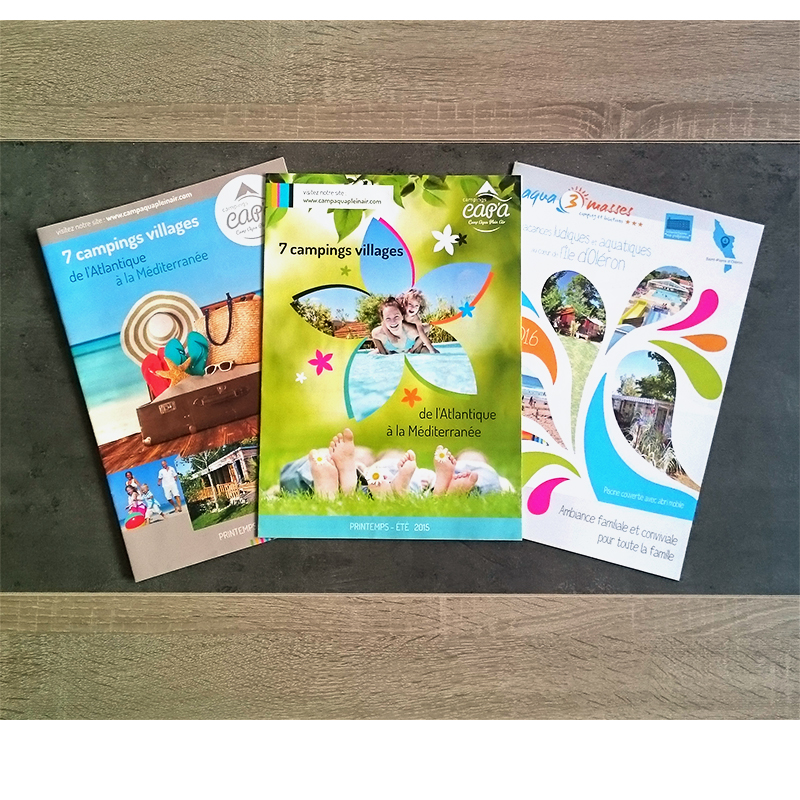 koro marketing brochures campings cote atlantique