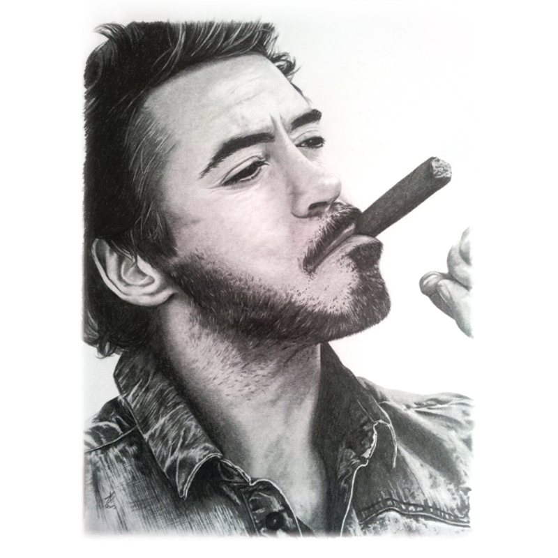 portrait crayon graphiste robert downey jr