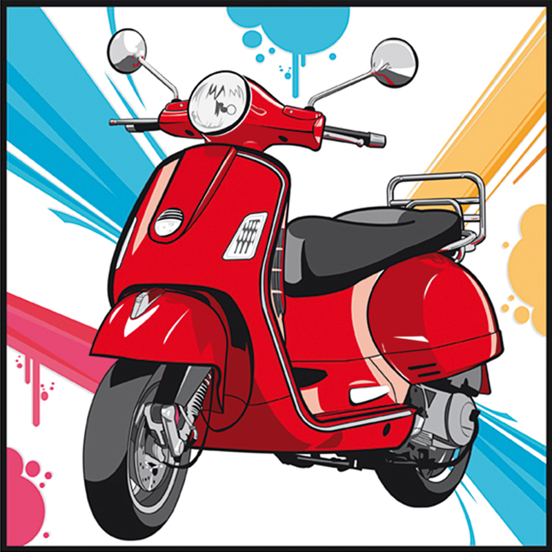 illustration vectorielle scooter